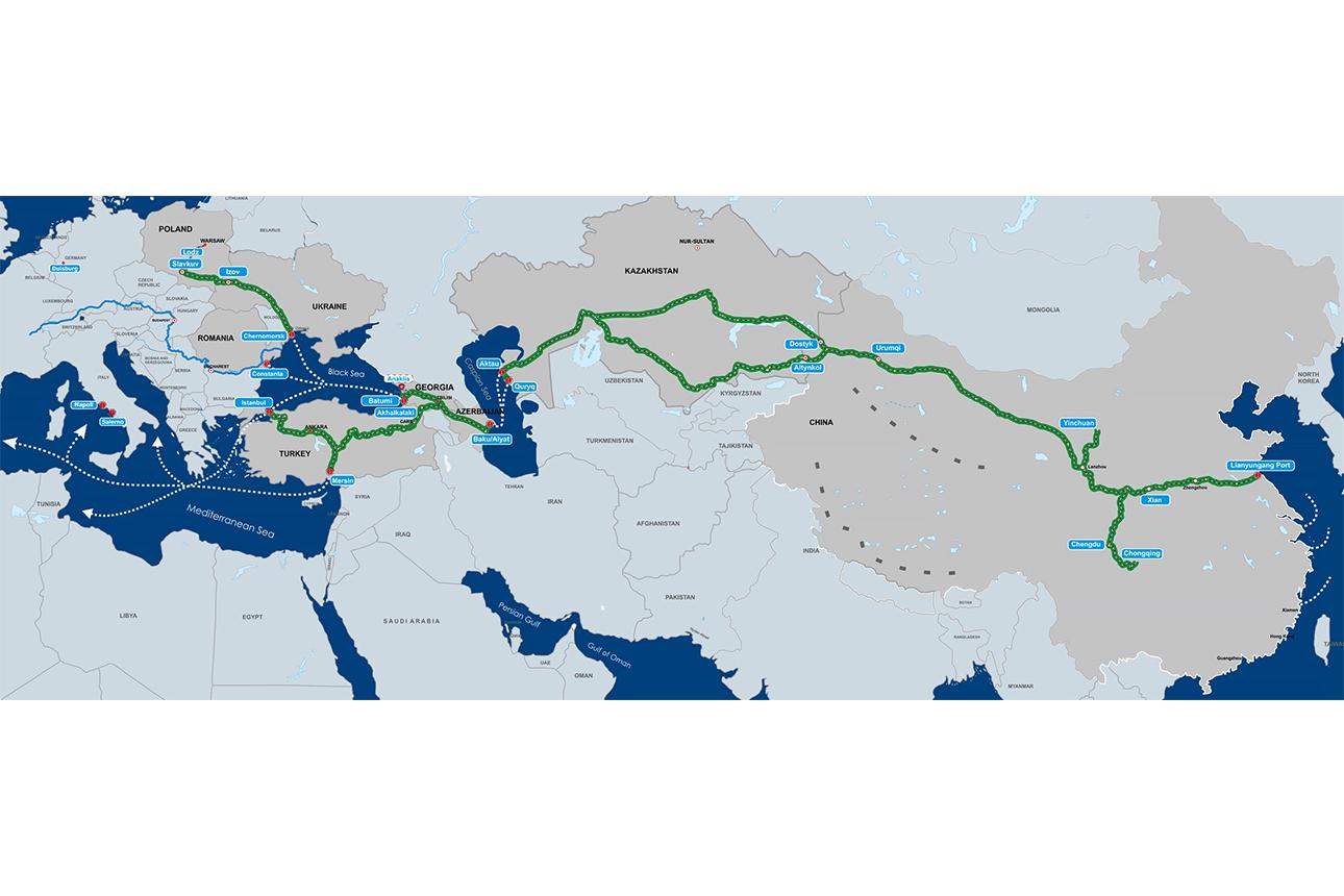 """Azərbaycan və """"Kəmər və Yol"""" Təşəbbüsü: regional nəqliyyat mərkəzi olma yolunda"""